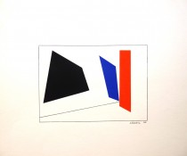 Gouache et encre sur papier, 15 x 22 cm, 1966