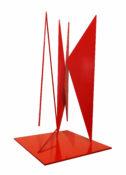 Acier laqué rouge n°1/3, 53 x 29 x 20 cm, 1966-2000