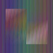 Chromographie sur papier, aluminium et bois n°5/8, 60 x 60 cm, 2011