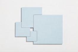 Acrylique et poudre de marbre sur contre-plaqué, 43 x 55,2 x 2,5 cm, 2017