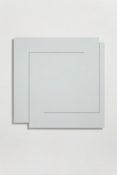 Acrylique et poudre de marbre sur contre-plaqué, 89 x 89 x 4 cm, 2015