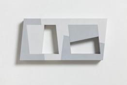 Acrylique et poudre de marbre sur contre-plaqué, 25 x 52 x 8 cm, 1990