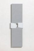 Acrylique et poudre de marbre sur contre-plaqué, 100 x 29,5 x 5 cm, 2016