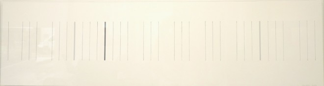 Graphite et acrylique sur papier d'Arches, 30 x 110 cm, 2001