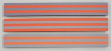 Acrylique sur bois (MDF), sérigraphie n°3/21, 5 x 42,5 x 3 cm, 2012