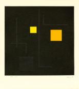 Gouache sur papier encadrée, 36 x 35,5 cm, 1989