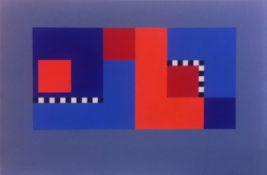 Gouache sur papier bleu, 46 x 62 cm