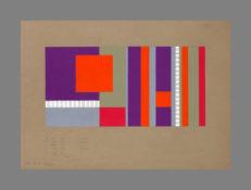Acrylique et gouache argentée sur papier, 57 x 72 cm, 1973