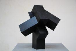 Bois teinté noir, 40 x 40 x 40 cm, 2008