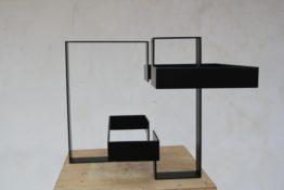 Acier peint en noir n°1/3, 40 x 30 x 30 cm, 1976-2013