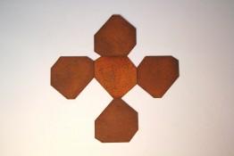 Acier corten, 5 pièces de 50 x 50 cm, 2008