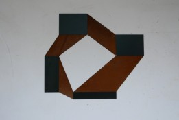 Acier corten et peinture noire, 84 x 72 cm, 2012