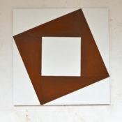 Acier corten sur bois peint, 100 x 100 cm, 2015
