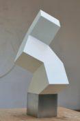 Inox et peinture blanche, 45 x 17 x 17 cm, 2013