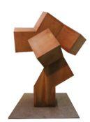 Acier corten, 240 x 150 x 170 cm sur une base cubique de 45 cm, 2009