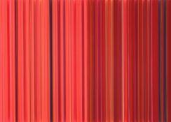 Peinture, encre, fil, laque sur polycarbonate, 50 x 70 cm, 2014