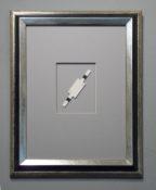 Aquarelle sur papier, 12,8 x 3 / 48 x 38 cm encadré, 2014