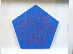 Impression numérique entre 2 plaques de plexi n°2/3, 16 x 16 x 4 cm, 2017