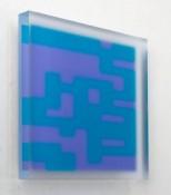 Acrylique sous verre satiné, 18 x 18 x 2 cm, 2010