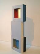 Acrylique et feuille d'or sur bois, 46 x 20 x 7 cm, 2014