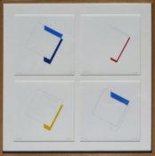 Acrylique et crayon sur papier, 50 x 50 cm, 2005