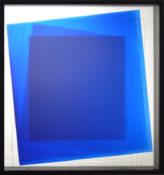 Dérivés de pigment sur miroir dépoli, 59 x 59 cm, 2016