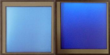 Dérivés de pigment sur feuilles de verre, 50 x 100 cm