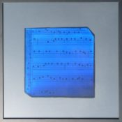 Dérivés de pigment sur feuilles de verre, 36 x 36 cm, 2012