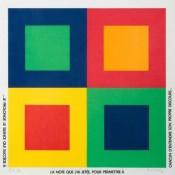 Sérigraphie sur tissu n°EA 2/20, 81 x 81 cm, 1988
