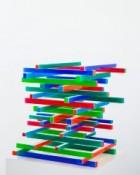 Acrylique et vernis sur bois, 57 x 57 x 54,5 cm, 2014