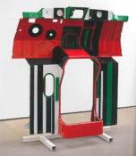 Laque glycérophtalique sur élement de carrosserie, 180 x 173 x 51 cm, 1972-1975