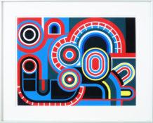 Gouache sur carton, 65 x 80,5 cm encadrée, circa 1970