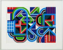 Gouache sur carton, 65 x 81,5 cm encadrée, circa 1970