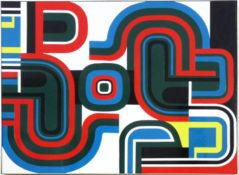 Laque sur panneau, 50 x 65 cm, circa 1969