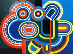 Laque sur panneau, 97 x 130 cm, circa 1970