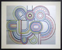 Sérigraphie sur papier n°23/100, 73 x 95 cm encadrée, circa 1970