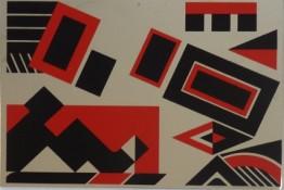 Sérigraphie EA sur carte postale métal, 10 x 15 cm, 1989