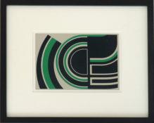 Sérigraphie EA sur carte postale métal, 23 x 27,5 cm encadrée, 1989