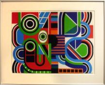 Gouache sur carton, 65,5 x 81,5 cm encadrée, circa 1970