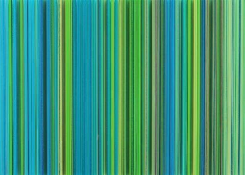 GREEN CONTOUR. 2014. Rachel Wickremer. Polycarbonate, Paint, Ink, Thread & Laquer. 70cm x 50cm