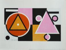 Sérigraphie mise en couleurs à la main au pochoir sur papier Arches 250gr, 30 x 40 cm, 1945