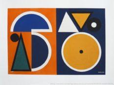 Sérigraphie mise en couleurs à la main au pochoir sur papier Arches 250gr, 30 x 40 cm, 1946