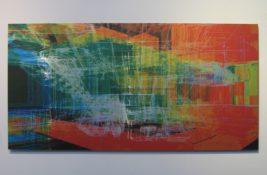 Impression numérique sur aluminium, pièce unique, 93 x 46,5 cm, 2005