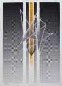 Tirage unique sérigraphié signé et daté, 76 x 56 cm, 2017