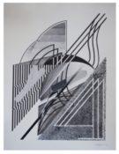 Feutre, bombe aérosol sur papier signé et daté, encadrée, 81 x 65 cm, 2015