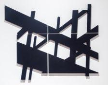 Découpe sur planche MDF recouverte d'acrylique, 75 x 97 cm, 2016